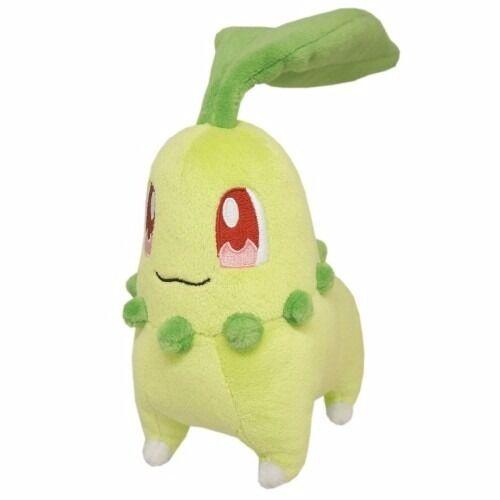 REAL AUTHENTIC Sanei Pokemon All Star PP40 Chikorita Stuffed Plush Doll