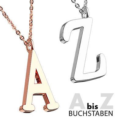Halskette Set mit Buchstaben Anhänger Alphabet Buchstabenkette Liebe Paarschmuck