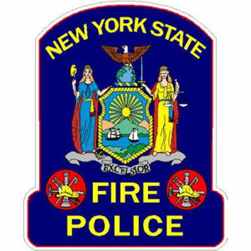 4 Inch Inside or Outside New York State Fire Police Static Cling Decal Sticker