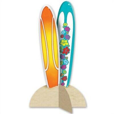 3-D Surfboard Centerpiece Surf Beach Surfboard Party Decorations - Beach Party Decor
