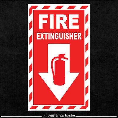 FIRE EXTINGUISHER Sticker Decal Alarm Work Safety Emergency Hose Business EMT