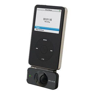 Belkin TuneTalk Stereo Voice Recorder Mic for iPod Classic & iPod Video OPEN BOX