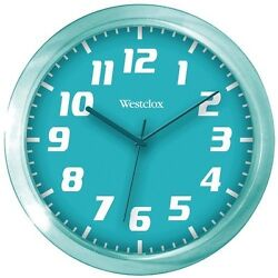 Westclox Teal 7.75 Translucent Wall Clock Second Hand Battery-Operated New