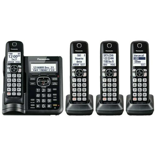 Panasonic KX-TGF544B Cordless Phone with Answering Machine - 4 Handsets