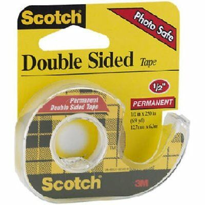 Scotch Double Sided Tape With Dispenser 12 X 250 Inches 136