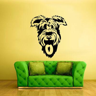 Wall Vinyl Sticker Bedroom Design Design Dog Head (Z397)