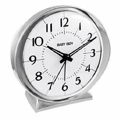 Westclox Baby Ben Bell Quartz Battery Alarm Clock with Metal Case from US Seller