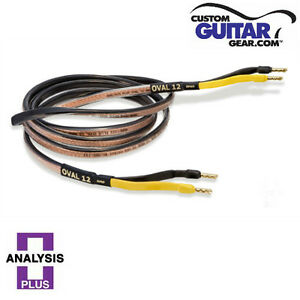 Analysis Plus Black Oval 12 Speaker Cables, 8ft Length, PAIR