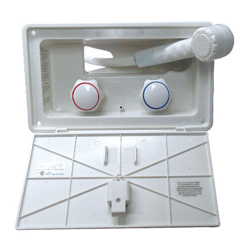 RV White Outside Exterior SHOWER with lock for Motorhome trailer camper