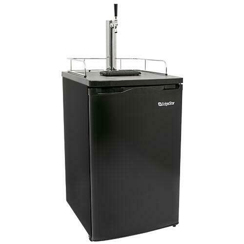 """EdgeStar KC2000 20""""W Kegerator and Keg Beer Cooler for Full Size - Black"""
