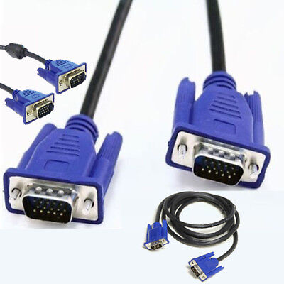 VGA / SVGA 15 Pin PC Computer Monitor LCD Extension Cable Male 0.5m to 20m Lead
