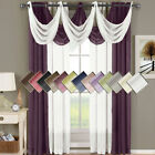 Modern Solid Window Treatment Sets with Grommet Curtain