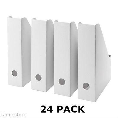 24 Ikea Fluns Magazine File Holders Office Paper Organizer Storage White