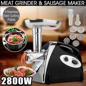 2800W Electric Meat Grinder Home Commercial Stainless Mangler Burger Maker - BRAND NEW - FREE SHIPPING