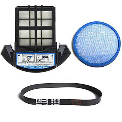 Hoover Upright Vacuum Hepa Exhaust Filter & Primary Blue Sponge Filter W/ Belt