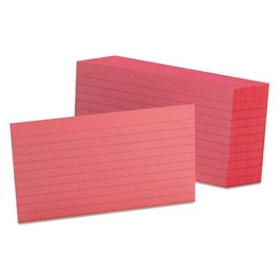Oxford Ruled Index Cards 3 X 5 Cherry 100pack Oxf7321che