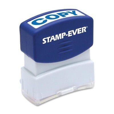 U.s. Stamp Sign Pre-inked Stamp - Copy Message Stamp - 0.56 X 1.69 - Blue