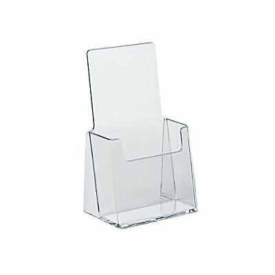 Counter Trifold Brochure Holder - Durable Acrylic Plastic 10 Pack