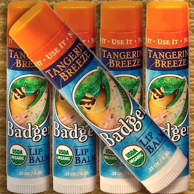 2er PACK Badger Lip Balm TANGERINE BREEZE Lippenpflegestift Mandarine 2x4,2g BIO