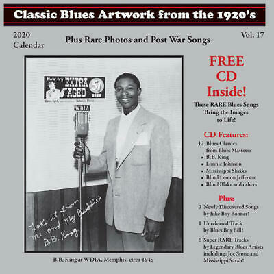 Classic Blues Artwork From The 1920s 2020 CALENDAR + CD NEW Juke Boy (Classic Blues Artwork From The 1920s Calendar)