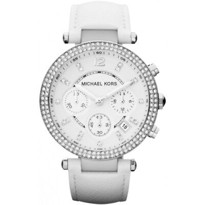 Michael Kors MK2277 Parker Stainless Steel White Leather Strap women's Watch