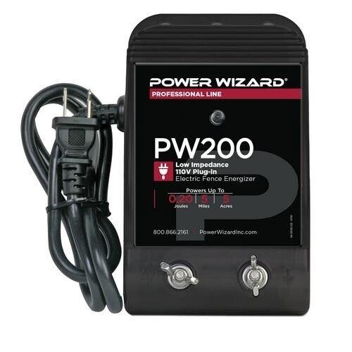 PW200 Power Wizard Fence Energizer / 3 year manufacturer warranty