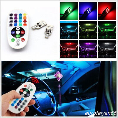2 Pcs 16-Color 12LED 5W Car Truck Interior Panel Reading Lights Atmosphere Lamps