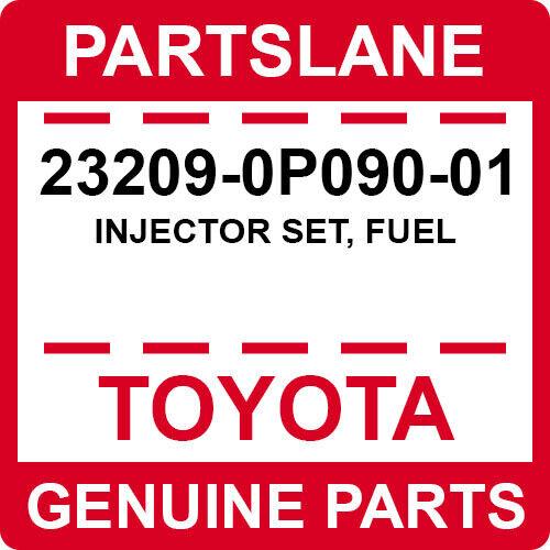 23209-0p090-01 Toyota Oem Genuine Injector Set, Fuel