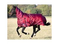 6'3 SHIRES STORMCHEETA PLUS COMBO 400G HEAVY WEIGHT TURN OUT HORSE RUG