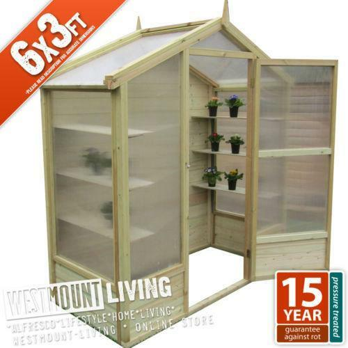 Timber Greenhouse Ebay
