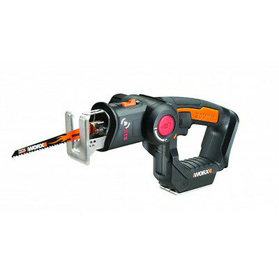 WORX WX550L.9 Axis 20V PowerShare Cordless Reciprocating & Jig Saw- Tool Only