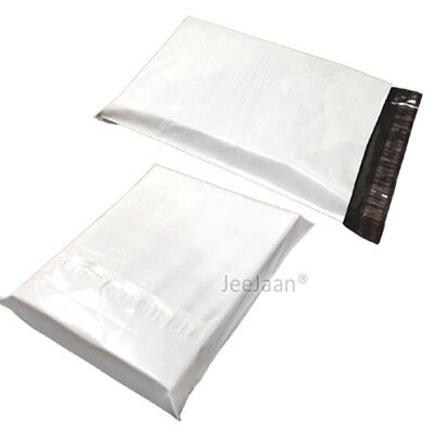 200 White Postal Bags Mailing Parcel Plastic Strong Poly 10