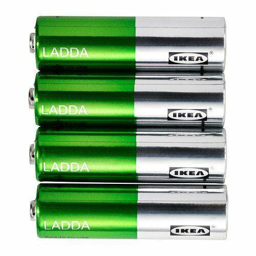 IKEA LADDA 4 Stück Akkus aufladbar 2000mAh HR6 AA 1.2V Batterien NEU&OVP