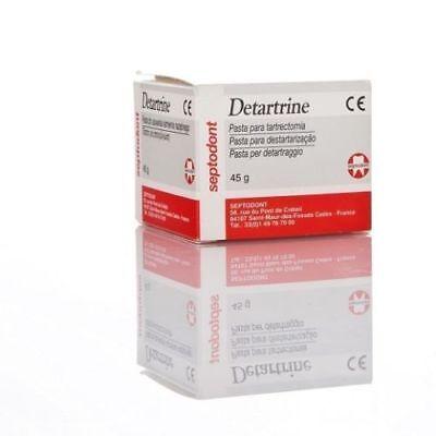 Pack Of 3 X Septodont Detartrine 45g Paste For Scaling Polishing