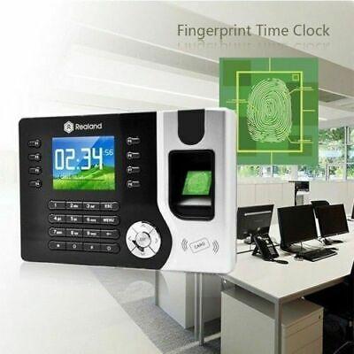 Realand Fingerprint Employee Attendance Tracking System Clocking In Machine New