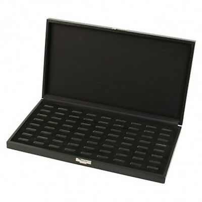 Black Ring Case - Holds 72 Rings Wfront Latch - Display Store Organize