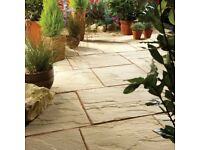 BRADSTONE COUNTRYSIDE RIVEN PAVING SLABS WEATHERED BROWN 675 X 450MM X15 = 4.56M2
