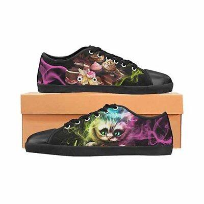 Cheshire Cat LADIES Canvas Shoes Disney Tim Burton (Tim Burton Alice In Wonderland)