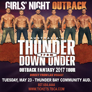 THUNDER DOWN UNDER MALE DANCERS TICKET avail 474-8669