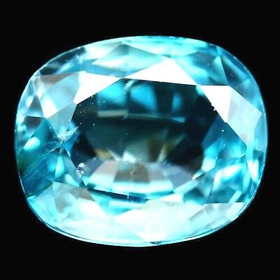 TOP ZIRCON : 3,63 Ct Natürlicher Blau Zirkon aus Kambodscha