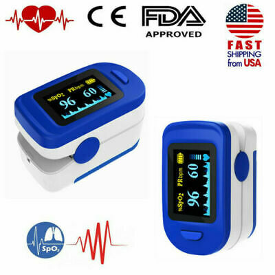 Finger Pulse Oximeter Spo2 Blood Oxygen Saturation Pulse Monitor Fda Approved