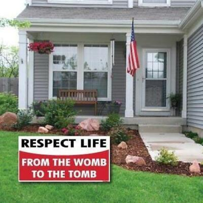 Respect Life - Prolife 2-pack 12x24 Corrugated Plastic Yard Signs - Free Shipp