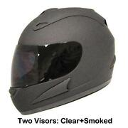Matte Black Full Face Motorcycle Helmet