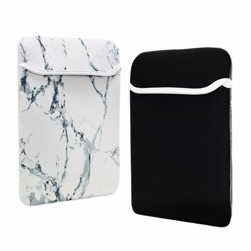 11-Inch White Marble Reversible Sleeve Bag for 11