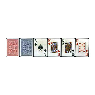 SET OF 2 Copag Plastic-Coated Casino Series Playing Cards Poker Size Jumbo Index