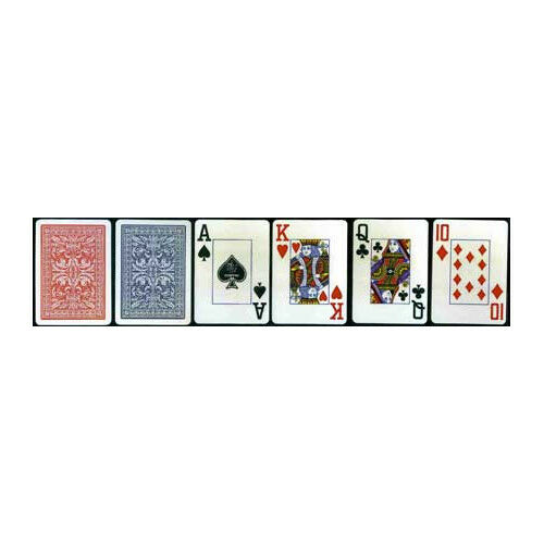 Set of 2 Copag Plastic-Coated Casino Series Playing Cards Poker Size Jumbo Index