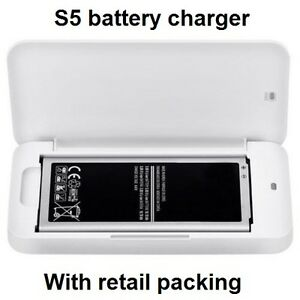 External Spare Battery Charger For Samsung Galaxy S5 mobile phone  i9600 White