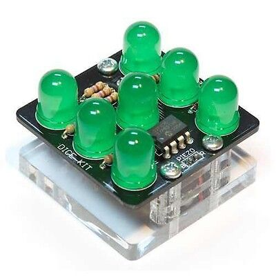 SpikenzieLabs Electronic Dice Kit in Red or Green