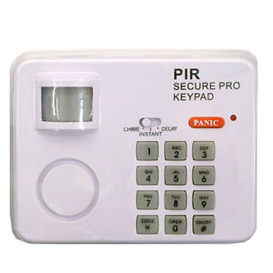 NEW PIR SECURITY WIRELESS MOTION SENSOR ALARM KEYPAD HOME GARAGE SHED CARAVAN