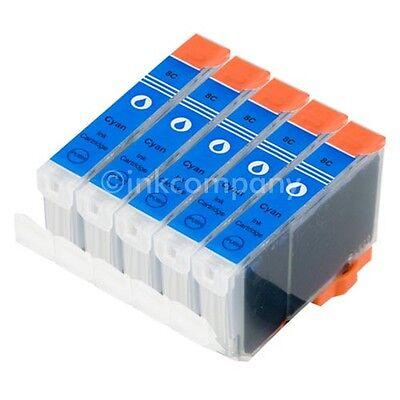 5 CANON Patronen mit Chip CLI8 cyan IP3300 IP3500 IP4200 IP4500 IP5200R MP610 online kaufen